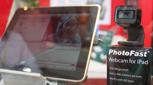iPad webcam accessory spotted in the wild