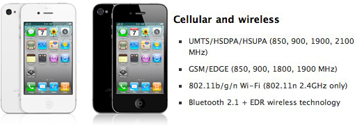 iPhone 4: quadband 3G but still no T-Mobile USA love