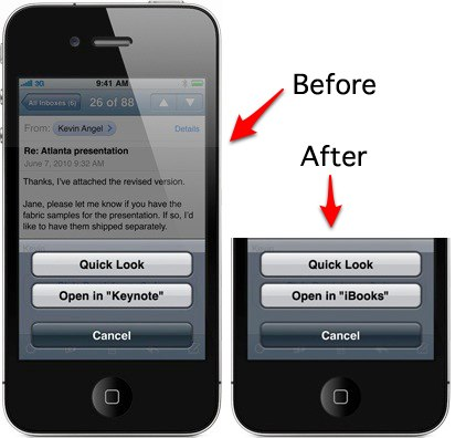 iWork on iPhone 4 tipped by Apple Keynote option