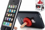 iPlunge kickstand for iPhone looks like a plunger