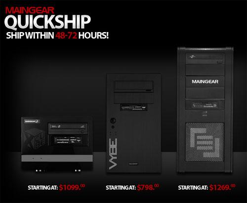 Maingear announces quick ship PCs
