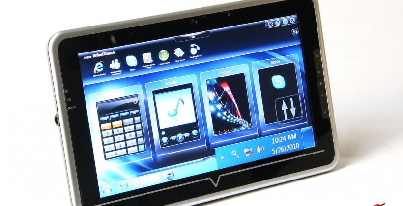 MSI WindPad U100 gets official promo pics