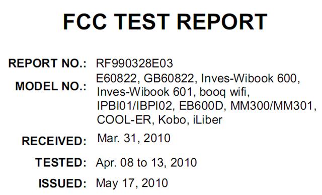 Netronix WiFi e-reader hits FCC, headed to Cool-ER & maybe Kobo?