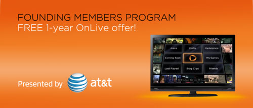 OnLive launches founding members program