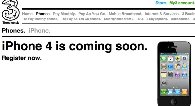 Three iPhone 4 confirmed as fifth UK carrier joins in