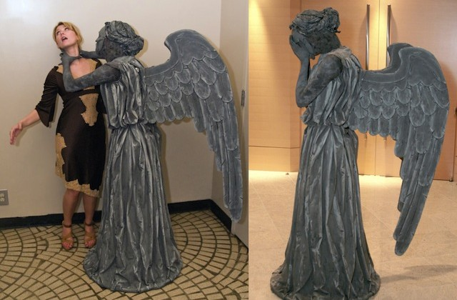 DIY Doctor Who Weeping Angel costume looks terrifyingly good