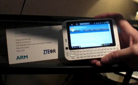 ZTE V7 Maemo MID gets video hands-on