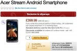 Acer Stream due August 3rd tips UK retailer