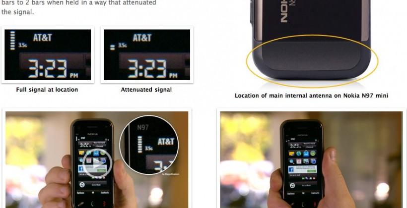 "Nokia N97 mini gets Apple ""antennagate"" testing"