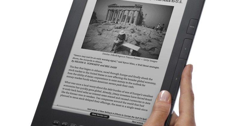 Amazon Kindle DX graphite offers 50% more contrast for $379