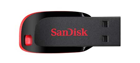 SanDisk Cruzer Blade USB Flash Drive Weighs as Much as a Penny