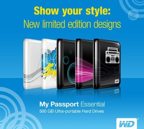 Western Digital My Passport Essential External 500GB Hard Drives Getting Limited Edition Designs