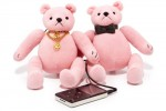 Juicy Couture Mini Bear Speakers for your MP3 player