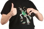 ThinkGeek robot bottle opening shirt is great for frat parties