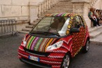 Smart Car gets covered in crochet