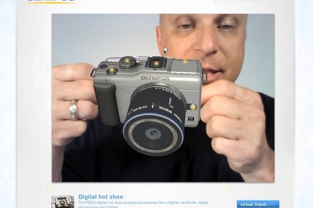 Olympus PEN E-PL1 gets augmented reality demo [Video]