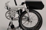 Bike concept folds to a quarter of its original size and has battery power