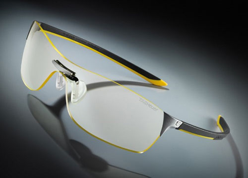 Tag-Heuer offers glasses for night driving using Squadra Night Vision Optics