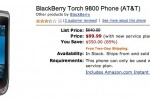 BlackBerry Torch half-price at Amazon