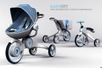 Babyoom Turns from Stroller to Tricycle, Includes Shopping Cart Too