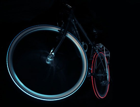 Night Bright Tyre Unleashes Cyglo Tire, DIY Tron Bikes