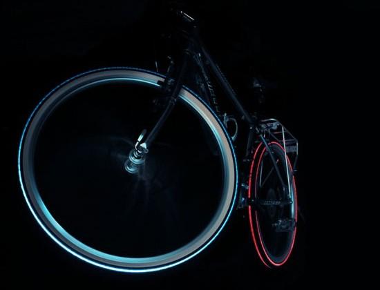 Night Bright Tyre Unleashes Cyglo Tire, DIY Tron Bikes