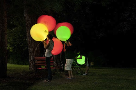DIY LED Air Sensing Balloons Light Up to Signify Air Quality