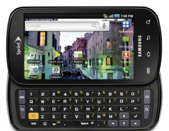 Samsung Epic 4G for Sprint Available August 31st for $249.99, Reservations Beginning August 13th