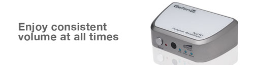 GefenTV Auto volume Stabilizer makes sure commercials don't blast your eardrums out