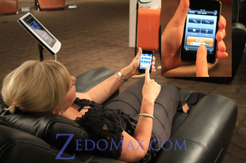 Human Touch AcuTouch 9500 massage chair is controlled by your iPhone or iPad