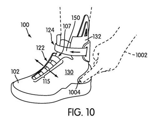 Nike files patent app for self-lacing shoes, Doc Brown not listed as an inventor