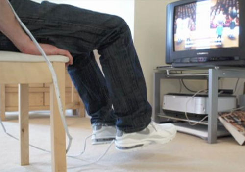 Brit combines Nike shoes and Wii controls to make workouts harder