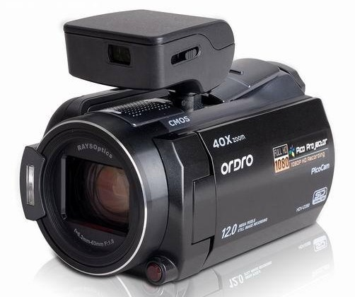 Ordro HDV-D350S pico-projector HD camcorder outed