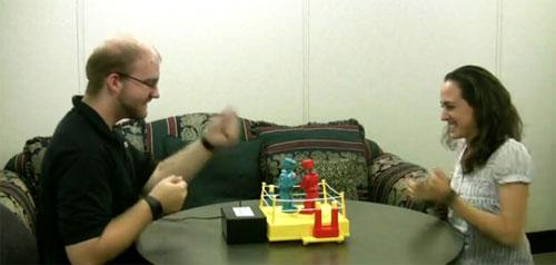 Motion controlled Rock 'Em Sock 'Em Robots