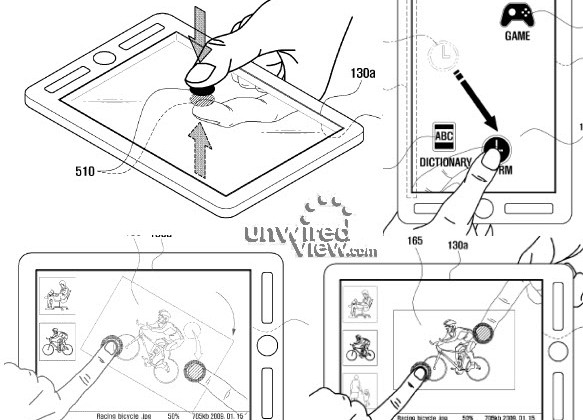 Samsung dual-touch patent application tips double-sided tablets