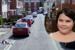 Girl sees Street View car and plays dead