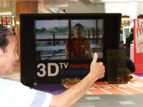 Sunny Ocean shows off 84-inch 3D display needing no glasses