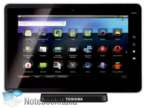 Toshiba Folio 100 Smart Pad packs Tegra 2 & Android 2.2