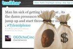 NFL fines Chad Ochocinco $25K for Tweets During Game