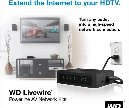 WD Livewire Powerline AV networking kit offers 200 Mbps speed