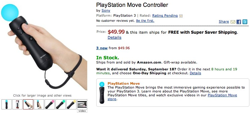 PlayStation Move plus PS3 Move bundle goes on sale