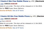 HTC Desire Z dropping sooner & cheaper says Amazon; new HTC Desire HD listing tips £540 price