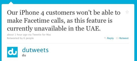 Apple's FaceTime Not Available in the UAE