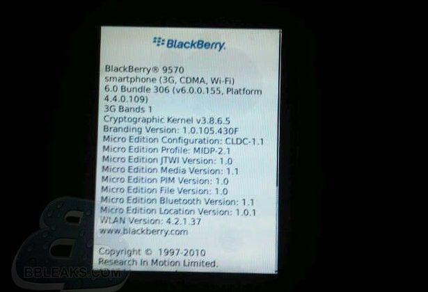 BlackBerry Storm 9570 Outed, Running BlackBerry 6 [Update]