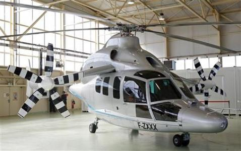 Eurocopter X3 Hybrid Helicopter Adds Two Aircraft Wings to the Design