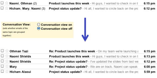 Google's Gmail Now Lets You Turn Off Conversation View