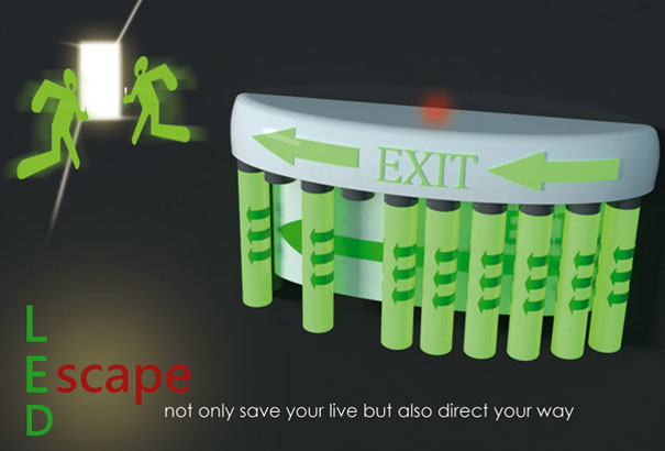 LED Escape Light Features Built-In Projector to Make Escaping Easier
