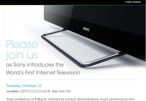 Sony Introducing the World's First Internet Television on October 12th
