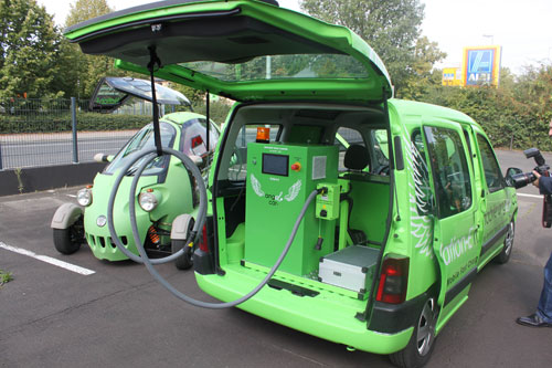 Mobile electric car charging stations called Angel Car unveiled in Europe