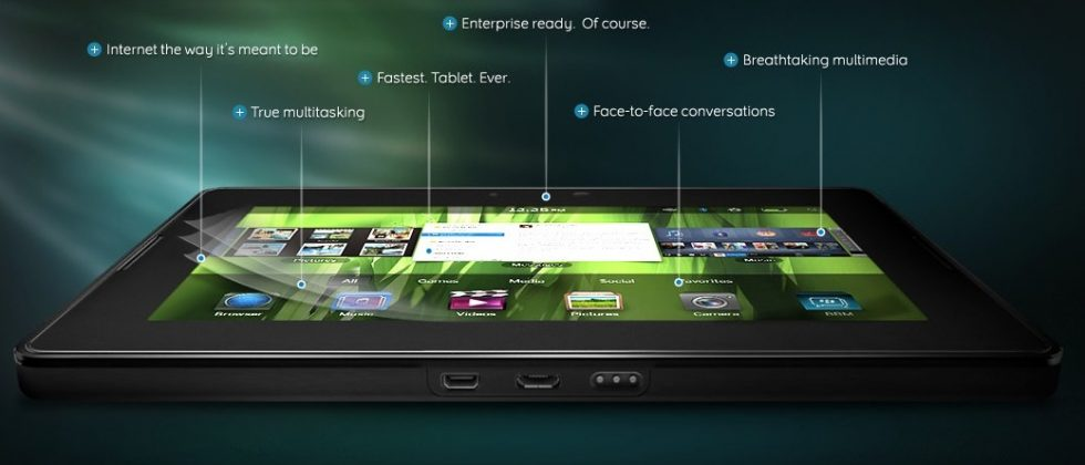 BlackBerry PlayBook QWERTY keyboard and charging dock accessories look likely